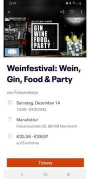2x Tickets Gin Wein Street