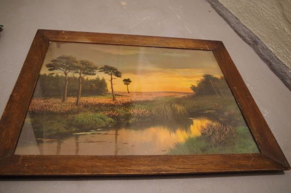 Großes Gemälde Öl auf Leinwand