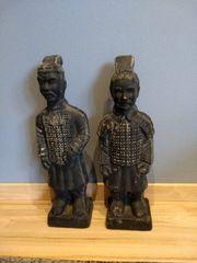 2 Deko-Figuren Krieger Chinesische Terrakotta