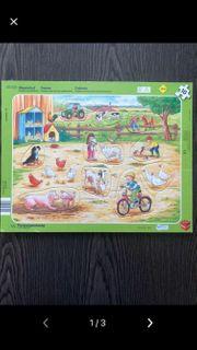 Puzzle Bauernhof 10 Teile Rahmenpuzzle