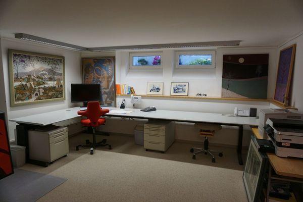 Schreibtischanlage für max 2 Arbeitsplätze