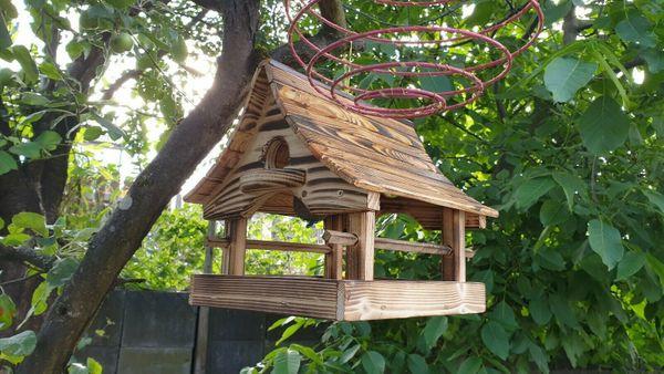 Vogelhaus Futterhaus NEU geflammte Oberfläche
