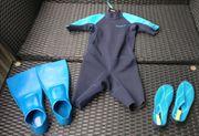 Schwimmset Badeschuhe Flossen Größe 30-33
