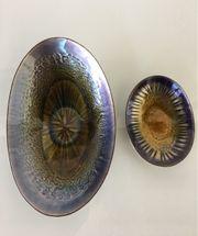 2 Schalen Kupfer emailliert Laurana