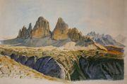 Aquarelle Berglandschaften Südtirol