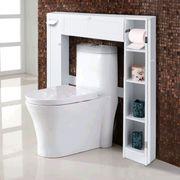 WC Badregal Toilette Überbauschrank Weiß