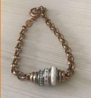 Damenarmband Rondel von Fossil Rosegold