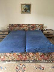 Doppelbett inkl Nachtkästchen