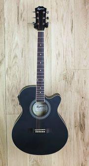 Keytone Basic Westerngitarre Tonabnehmer schwarz