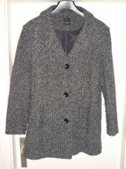 Damen Mantel Gr 42 Schwartz