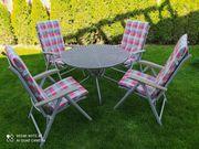 Gartentischgruppe Tisch 4 Stühle mit