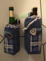 Gürteltasche für Flaschen Handarbeit