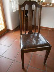 4-6 Jugendstil Esszimmer Stühle