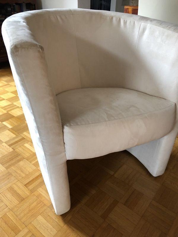 Sessel Hocker Stuhl Creme gebraucht