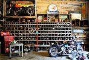 Einzelgarage Motorrad