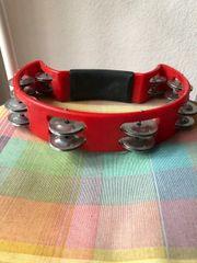 Tamburin rot 16 paar Schellen
