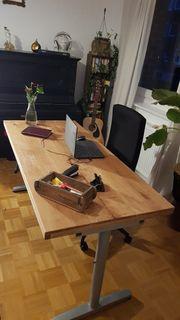 Schreibtisch Eiche massiv Handarbeit Unikat