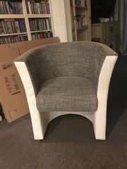 2 Sessel Webstoff Kunstleder
