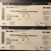 Konzertkarten SASO AVSENIK Oberkrainer