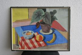 Gemälde Stilleben Obst mit Planze: Kleinanzeigen aus Bad Dürkheim - Rubrik Kunst, Gemälde, Plastik