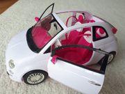 Barbie Auto Fiat 500 weiß
