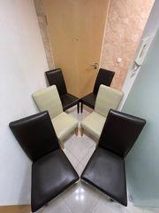 6 x Esszimmerstühle 2x Weiss