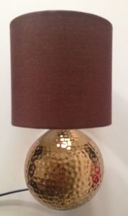Elegante Lampe, Braun,