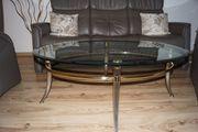 Couchtisch Oval mit Tischplatte aus