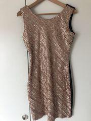 Pailletten Kleid rose-gold