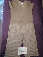 Damen Schlafanzug 3 4 Hose