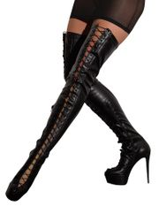 High Heel im Wetlook Overknee