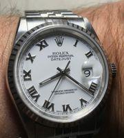 Rolex Datejust White Roman LC100