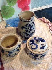 Keramiken  Weinkrug blau
