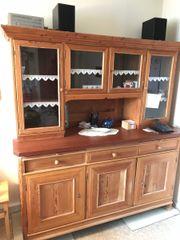 Buffet Küchenschrank Glasvitrine