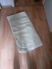 Matratzenauflage Schurwolle beige 90 bis