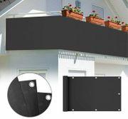 Balkon Sichtschutz 600x75cm PVC Balkonsichtschutz