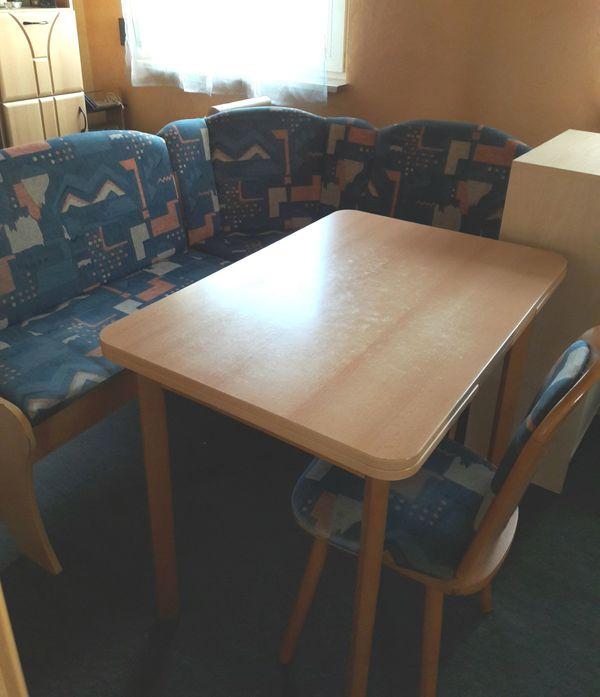 Küchen Sitzecke gepolstert mit Staufächern, Stuhl und Tisch ...