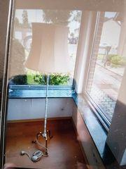 Wohnzimmer Stehlampe aus Messing weis