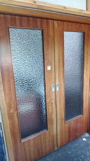 Schiebetürelement mit 2 Holzdoppeltüren