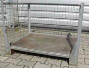 Brennholzkiste Metallbox Gitterbox Lagerkiste Lagerbox
