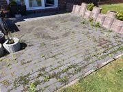 Fräsarbeit einer Terrasse