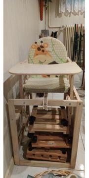 Hochstuhl umbaubar in Stuhl und