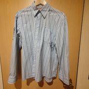 Herrenhemd XL hellblau mit Streifen
