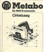 Handkreissäge Metabo Ks 0846 S-automatic