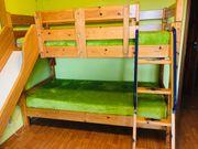 Bett Doppelbett mit Rutsche Etagenbett