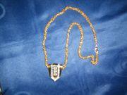 Modische Halskette goldfarben ca 30