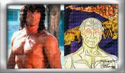 SYLVESTER STALLONE Collage Rocky mischt