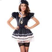 Faching Marinekostüm Kleid Blau Matrose