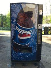 Getränkeautomat Colaautomat - Pepsi - Werbefront