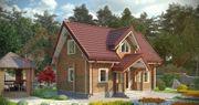 98 qm-vollisoliertes massives Holzhaus mit